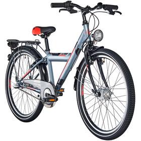 s'cool XYlite 24 3-S - Vélo enfant - steel gris